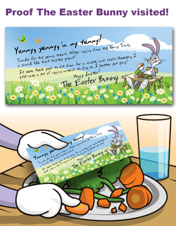 Easter Bunny Thank You Letter